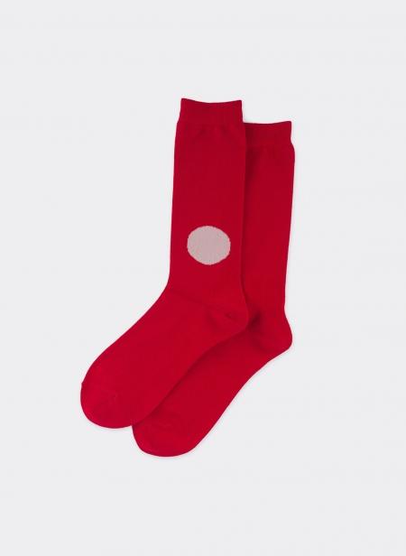 Knitted Japan Flag Socks
