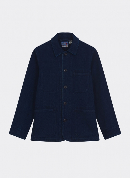 Pure Indigo Sachiko Coverall Used Washed Jacket