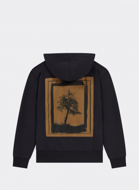 Zip Hood Sweater Tree Silk