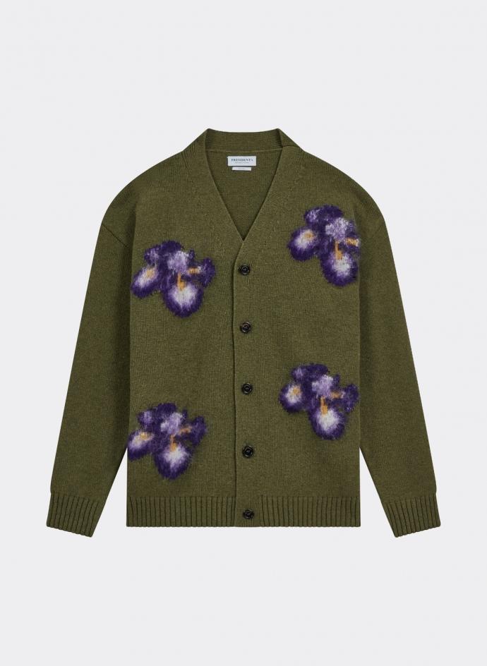 Cardigan Intarsia Flower