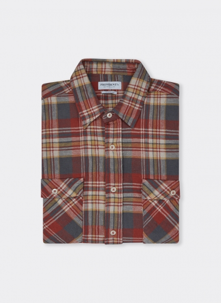 Vespa Shirt Japan Check Washed