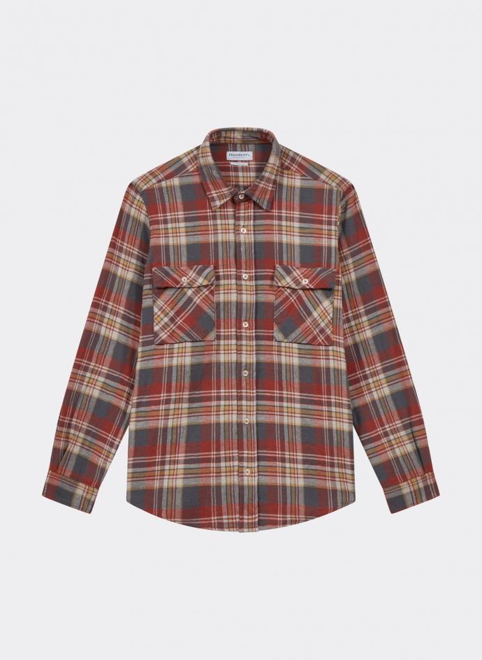 Vespa Shirt Japan Check Washed