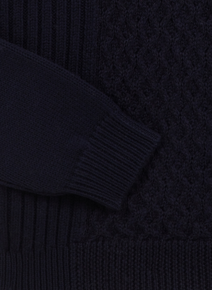 Cableknit Sweater in Merino Wool Roberto Collina