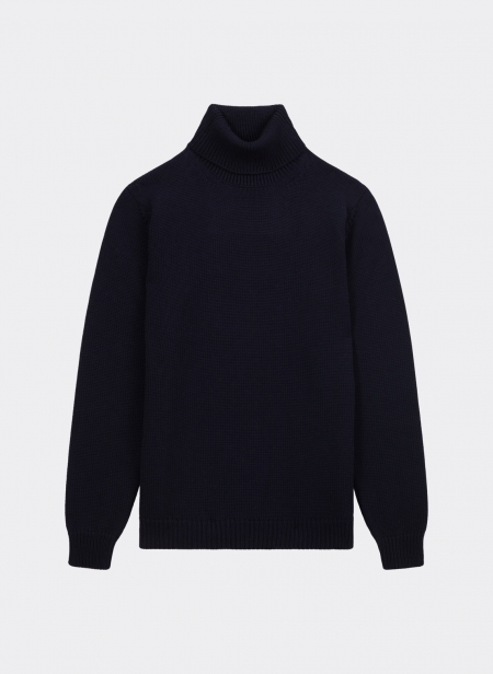 Roll Neck Jumper in Merino Wool Roberto Collina