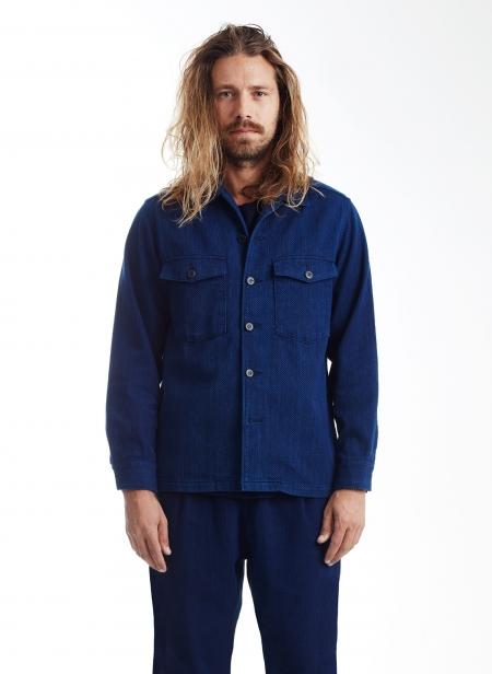Sashiko Indigo 2 Pocket Shirt Blue Blue Japan