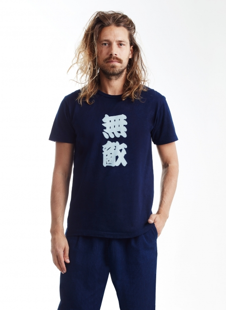 Tee Kanteiryu Font Bassen Tee Blue Blue Japan