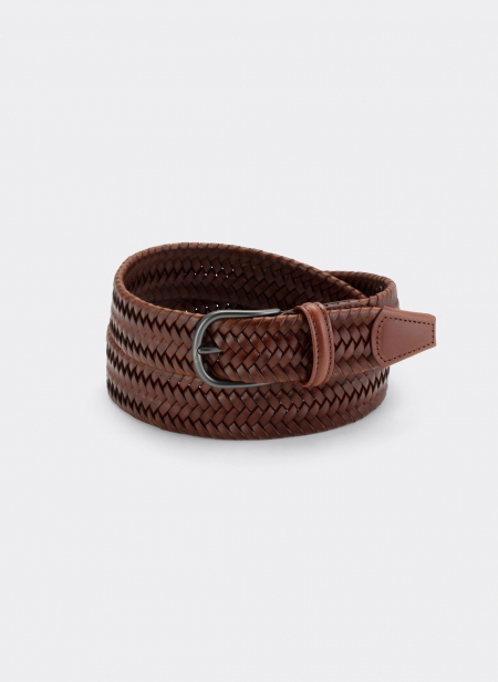 Ceinture Andersons Cuir Woven Stretch