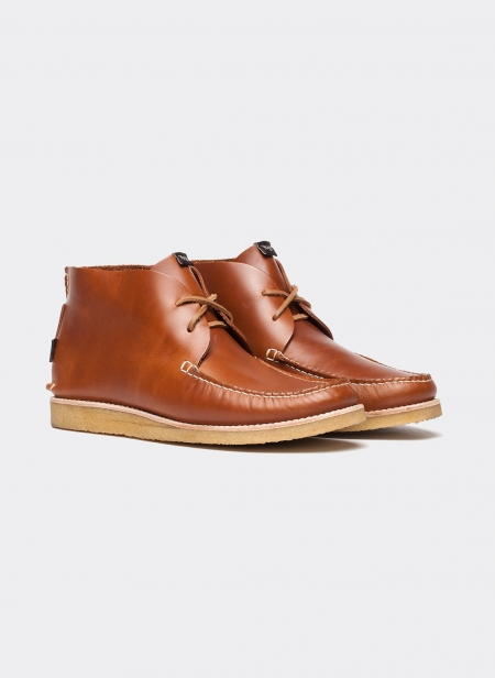 Lucas Mocassion High Boot Natural Crepe Sole