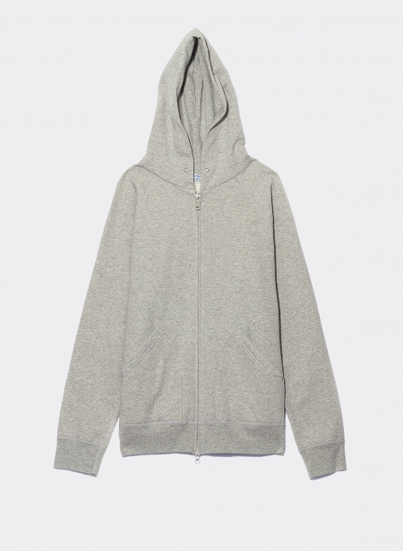 10oz Hooded Zip Loopback Fleece Sweatshirt Velva Sheen