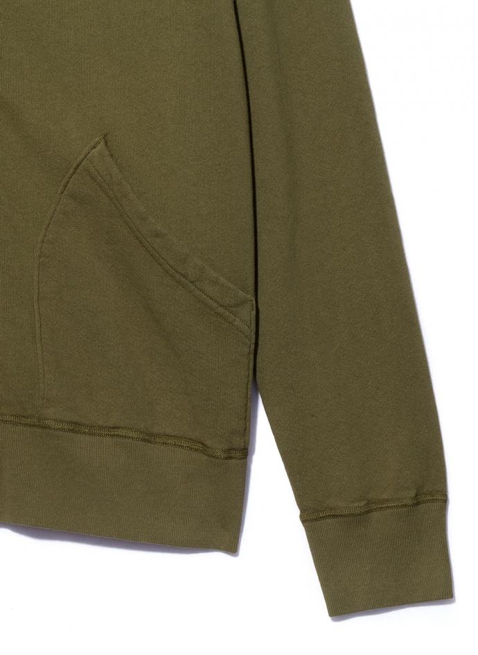 10oz Hooded Zip Loopback Fleece Sweatshirt Velva Sheen