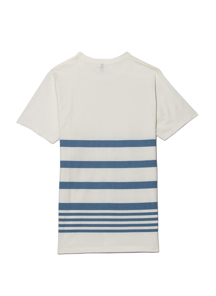 Narrow Wave Stripe Tee Shirt Velva Sheen