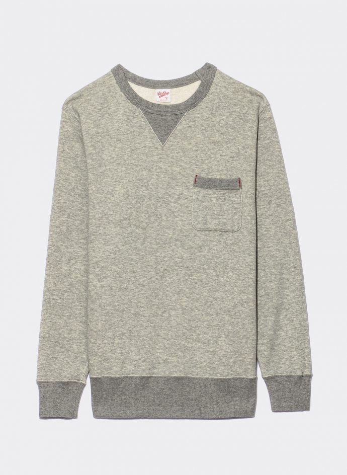 Loopwheeler Crew Sweatshirt With Pocket Velva Sheen