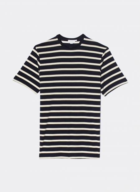 T-Shirt Col Rond Manches Courtes Stripe