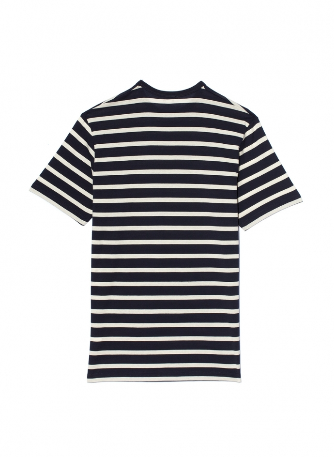 T-Shirt Col Rond Manches Courtes Stripe