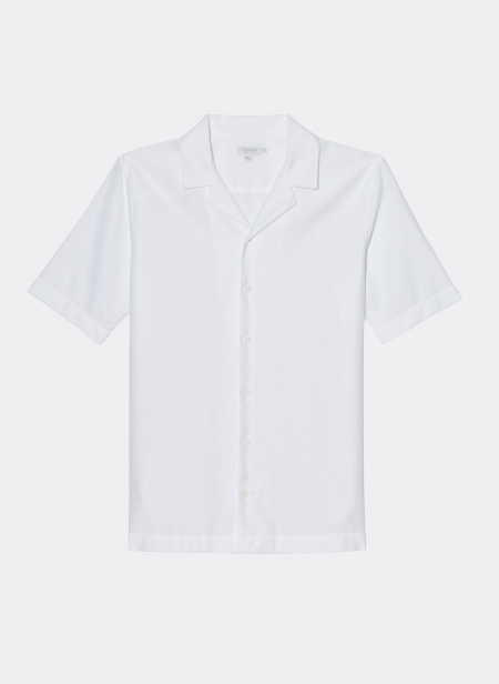 Short Sleeve Collar Shirt Sunspel