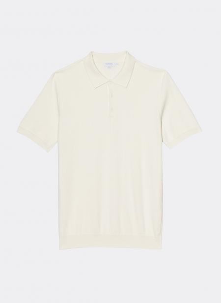 Short Sleeve Rack Stitch Polo Sunspel
