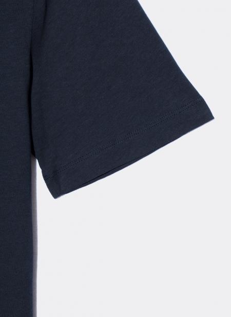 T-Shirt Manches Courtes Relax en Coton Slub Sunspel