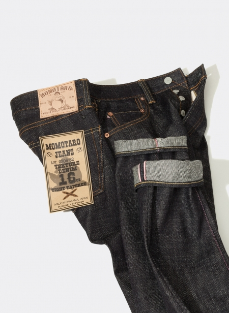 0306-82 Tight Tapered 16oz Slub Texture Denim Momotaro Jeans