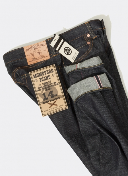 0306-32 14oz Tight Tapered Low Tension Weave Momotaro Jeans