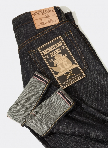 0605-82 16oz Natural Tapered Texture Denim Momotaro Jeans