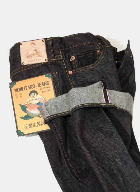 G017-MB 14.7oz Vintage Copper Label Tight Straight Momotaro Jeans