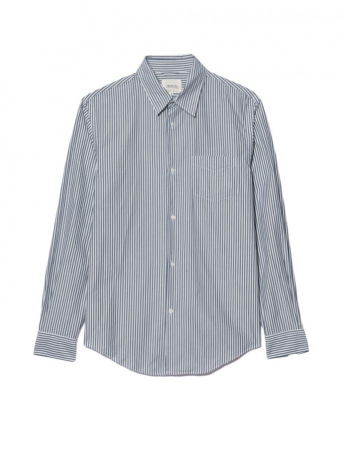 Indigo Button Down Shirt Egyptian Cotton