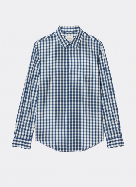 Indigo Button Down Shirt Egyptian Cotton